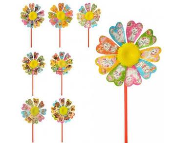 Вітрячок,квітка,паличка 28см №M6059(10)(500)