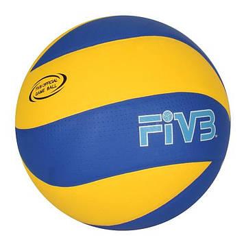 """М'яч волейбол. """"Mikasa"""" розмір 5,ПУ,безшовний,260-280гр №MS0162-1(30)"""