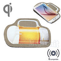 Qi Беспроводное зарядное устройство (Wireless charger) Beer, фото 1