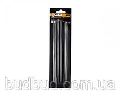 Стрижні клейові чорні 11,2*200мм 6 шт (32-007) POLAX