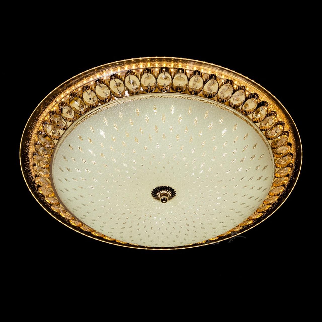Настенно-потолочный светодиодный светильники 50 см каркас золото 70 Вт LED СветМира D-77178-500-1A G