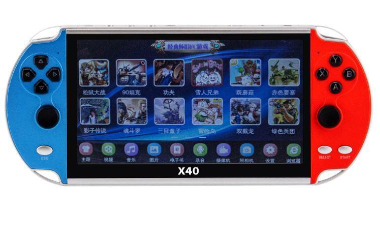 Игровая приставка X40 / 7,1 дюймовый LCD / 3000 игр Gamepads