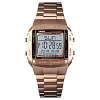 Skmei 1381 illuminator розовое золото мужские спортивные часы, фото 1