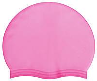 Силіконова Шапочка для плавання рожева, фото 1