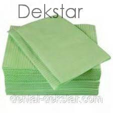 Салфетки нагрудные  / Нагрудники стоматологические ящик 500 шт салфетки, зеленые