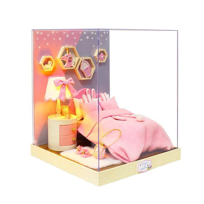 Кукольный дом конструктор DIY Cute Room BT-028 Спальня 23*23*27,5см 3D Румбокс