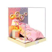 Ляльковий будинок конструктор DIY Cute Room BT-028 Спальня 23*23*27,5 см 3D Румбокс, фото 1