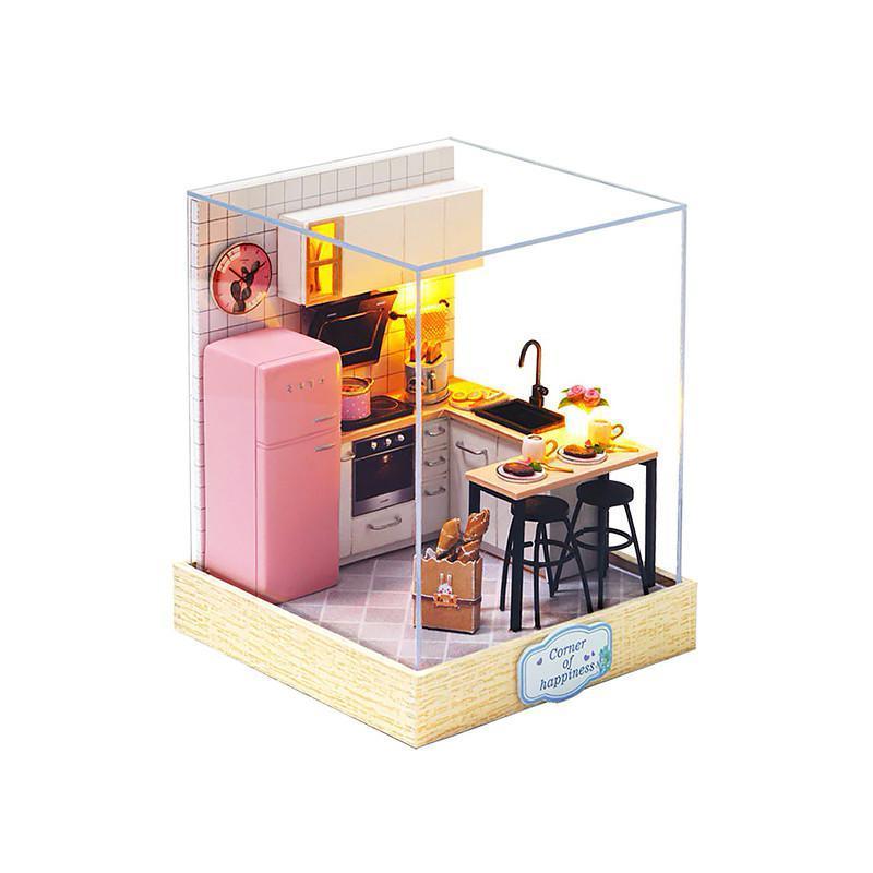 Кукольный дом конструктор DIY Cute Room QT-027 Кухня 3D Румбокс
