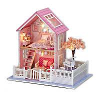 Кукольный дом конструктор DIY Cute Room A-036-B Pink Cherry Blossom 3D Румбокс