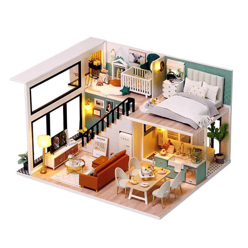 """Ляльковий будинок конструктор DIY Cute Room L-031-B/C Вілла """"Комфортне життя"""" 3D Румбокс"""