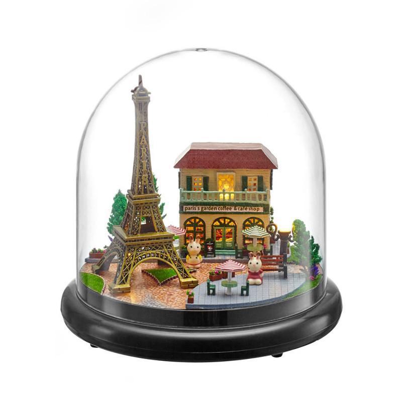 Ляльковий будинок конструктор під куполом DIY Cute Room ZQW-2018 Побачення в Парижі 3D Румбокс