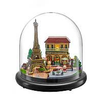 Ляльковий будинок конструктор під куполом DIY Cute Room ZQW-2018 Побачення в Парижі 3D Румбокс, фото 1