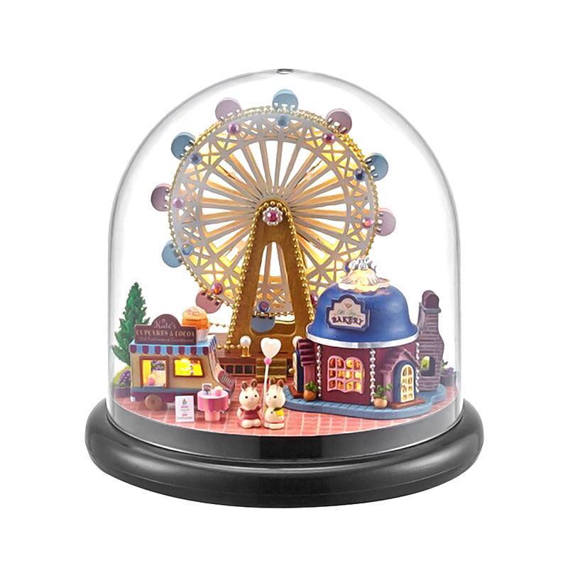 Ляльковий будинок конструктор під куполом DIY Cute Room ZQW-2023 Колесо огляду 3D Румбокс