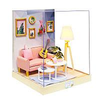 Ляльковий будинок конструктор DIY Cute Room BT-025 Творчий світ 23*23*27,5 см 3D Румбокс, фото 1