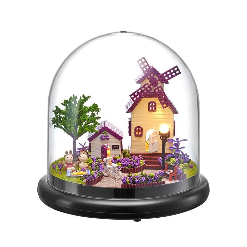 Кукольный дом конструктор под куполом DIY Cute Room ZQW-2019 Лавандовый Прованс 3D Румбокс