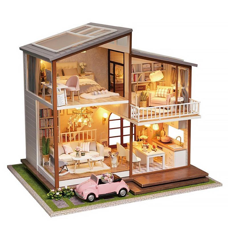 Ляльковий будинок конструктор DIY Cute Room A-080-B Big House 3D Румбокс