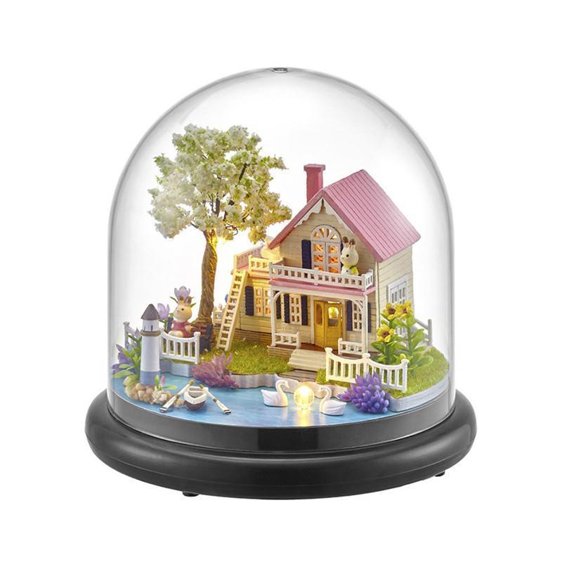 Ляльковий будинок конструктор під куполом DIY Cute Room ZQW-2021 Весняна Прогулянка 3D Румбокс