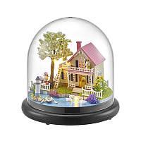 Кукольный дом конструктор под куполом DIY Cute Room ZQW-2021 Весенняя Прогулка 3D Румбокс, фото 1