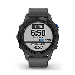 Мультиспортивные часы GARMIN Fenix 6 Pro Solar Black with Gray Band