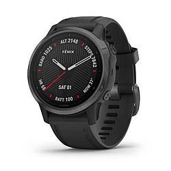 Мультиспортивные часы GARMIN Fenix 6S Sapphire  Carbon Grey DLC with Black Band