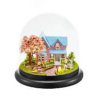 Кукольный дом конструктор под куполом DIY Cute Room ZQW-2016 Вишнёвый Сад 3D Румбокс, фото 1