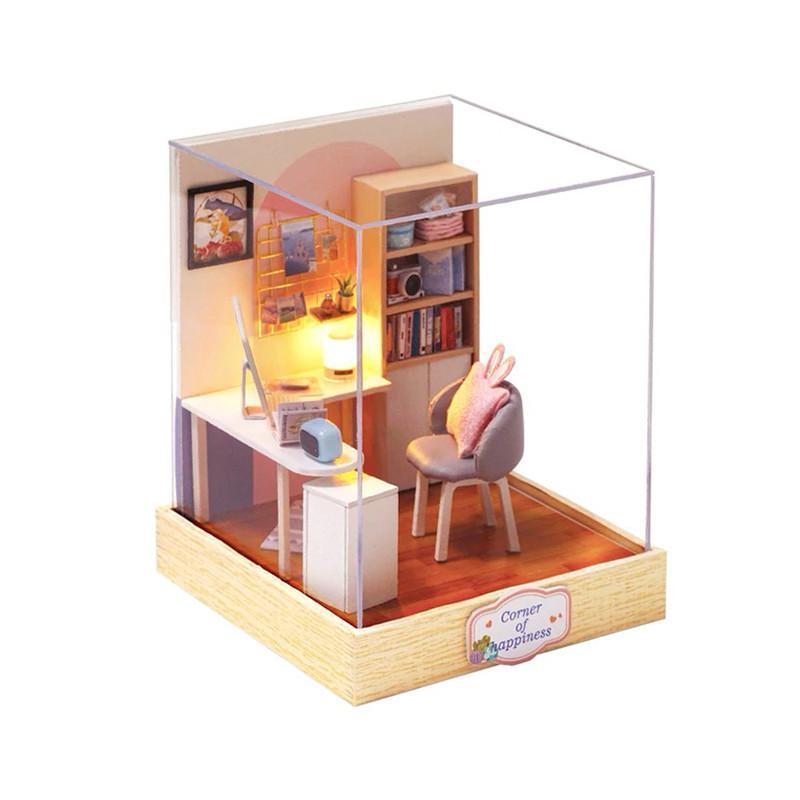 Кукольный дом конструктор DIY Cute Room QT-030 Corner of happiness 3D Румбокс