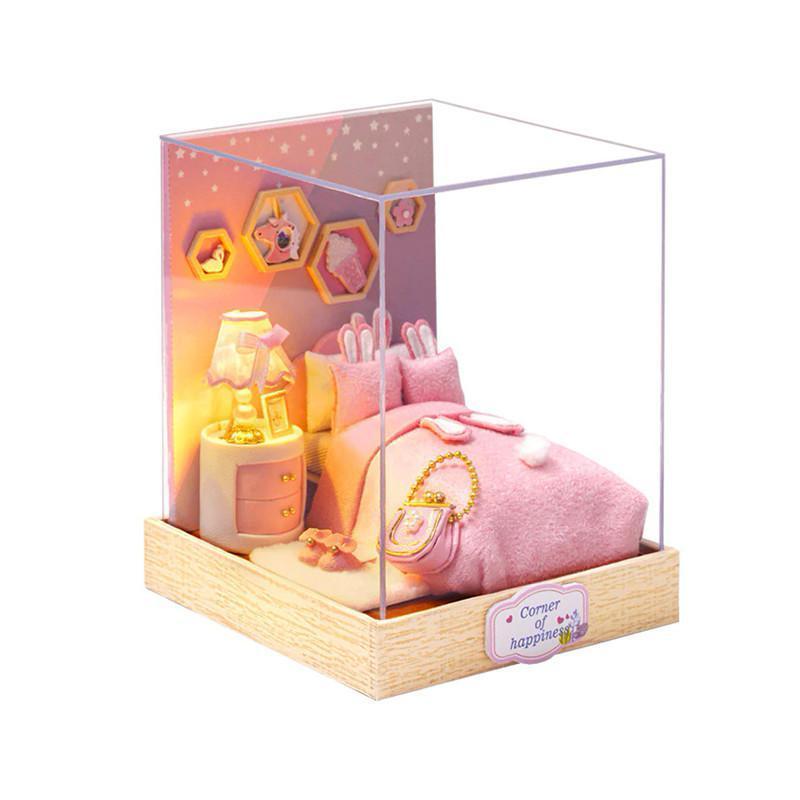 Ляльковий будинок конструктор DIY Cute Room QT-028 Спальня 3D Румбокс