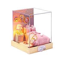 Ляльковий будинок конструктор DIY Cute Room QT-028 Спальня 3D Румбокс, фото 1