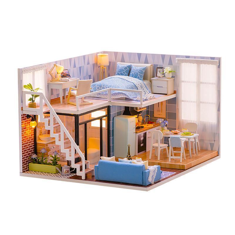 Ляльковий будинок конструктор DIY Cute Room L-023 Таунхаус 3D Румбокс