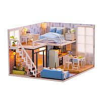 Кукольный дом конструктор DIY Cute Room L-023 Таунхаус 3D Румбокс, фото 1