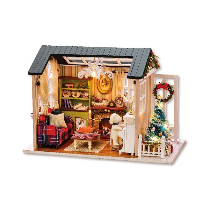 Кукольный дом конструктор DIY Cute Room 8009-D Сочельник 3D Румбокс