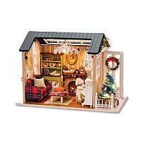 Ляльковий будинок конструктор DIY Cute Room 8009-D Святвечір 3D Румбокс, фото 1