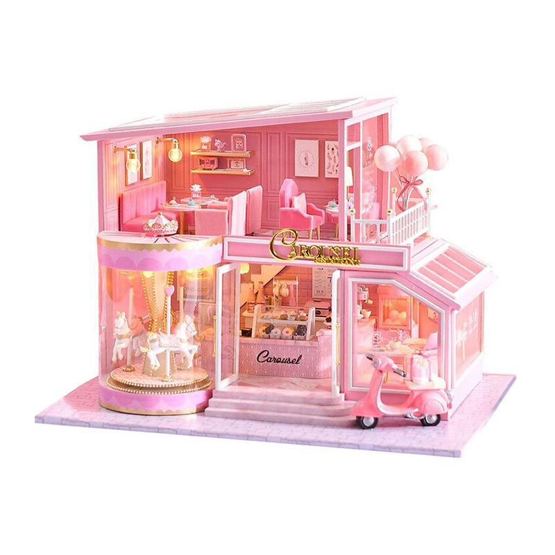Ляльковий будинок конструктор DIY Cute Room A-073-B Карусель для дітей ручна робота