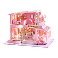 Ляльковий будинок конструктор DIY Cute Room A-073-B Карусель для дітей ручна робота, фото 1