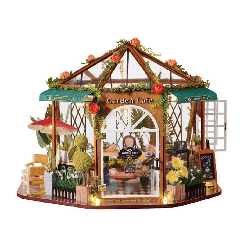 Кукольный дом конструктор DIY Cute Room GD-001-B Garden Cafe для детей