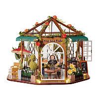 Кукольный дом конструктор DIY Cute Room GD-001-B Garden Cafe для детей, фото 1