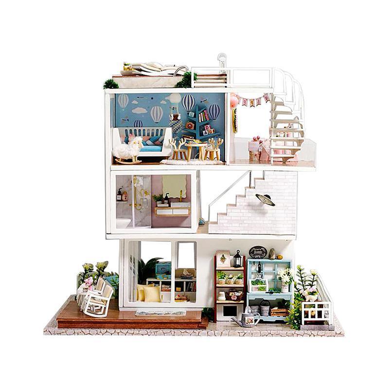 """Ляльковий будинок конструктор DIY Cute Room A-077-B Вілла """"Хороші часи"""" для дітей"""