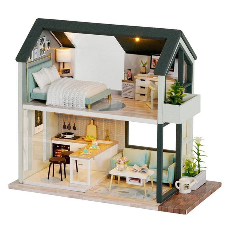 Кукольный дом конструктор DIY Cute Room QL-001-B The Nordic Apartment для детей