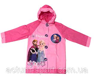 Розовый дождевик для девочки с надувным капюшоном Холодное сердце Disney frozen