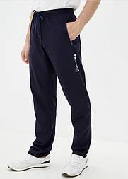 Спортивні штани чоловічі прямі темно сині