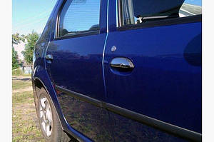 Накладки на ручки (4 шт, нерж.) OmsaLine - Итальянская нержавейка - Dacia Logan I 2005-2008 гг.