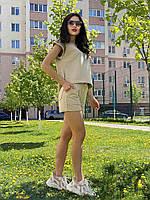 Жіночий костюм з шортами з бавовни Poliit 7305