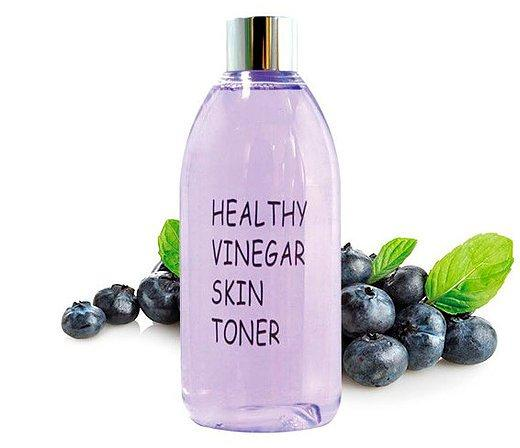 Тонер для лица Real Skin Черника Healthy vinegar skin toner Blueberry 300 мл