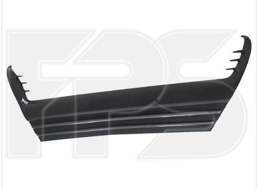 Решітка в передній бампер середня Lexus IS 13-16 (Тайвань) чорний мат + молдинг глянець