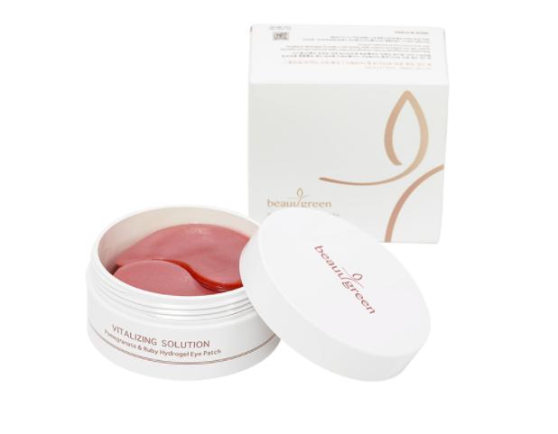 Гидрогелевые патчи с гранатом и рубиновой пудрой BeauuGreen Pomegranate & Ruby Hydrogel Eye Patch