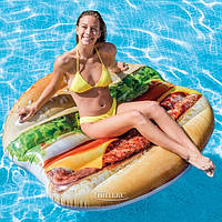 """Надувной матрас для взрослых и детей от 6 лет """"Гамбургер"""". Выдерживает 120 кг. 145х142см. Intex 58780 EU (6)"""
