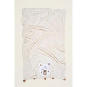 Детский плед Irya - Teddy krem кремовый 75*120