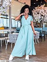 Красиве жіноче плаття в підлогу на запах з гумкою по талії і пишною спідницею на літо р-ри 42-48 арт. 177