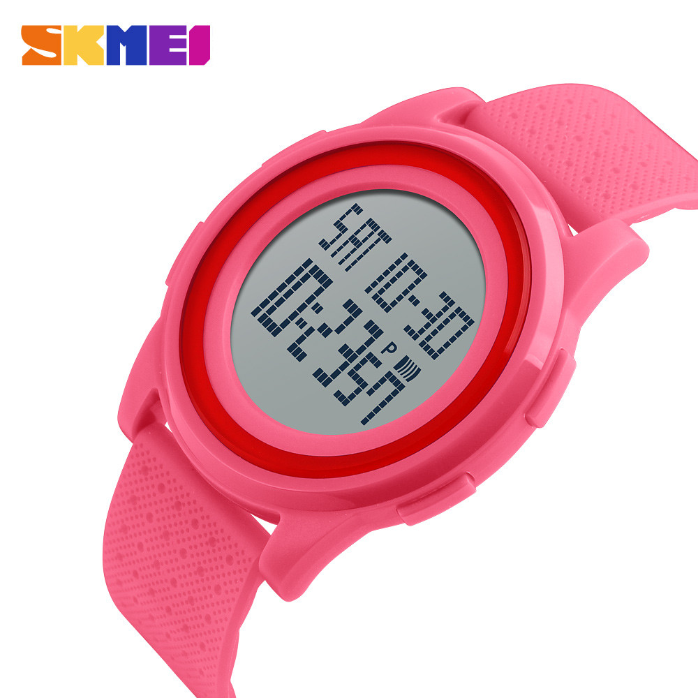 Skmei 1206  Ultra New розовые спортивные часы