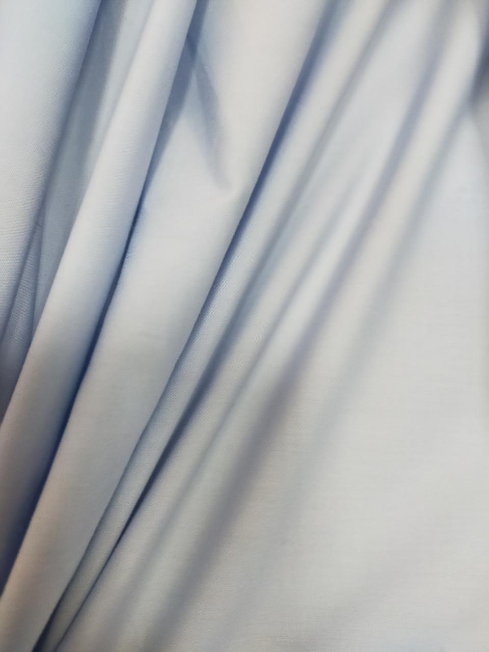 Сорочкова тканина. Бавовна.колір голубий